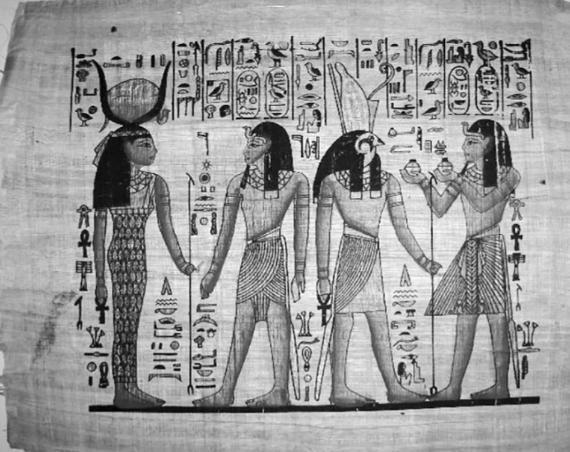 Papirüs Üzerine Çizilen Figürler