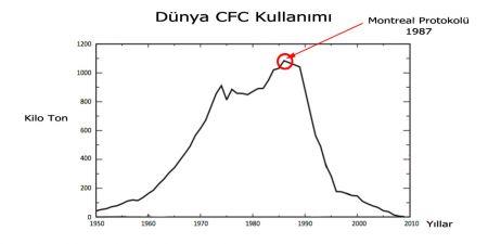 Dünya CFC Kullanımı (Yıllara Göre)