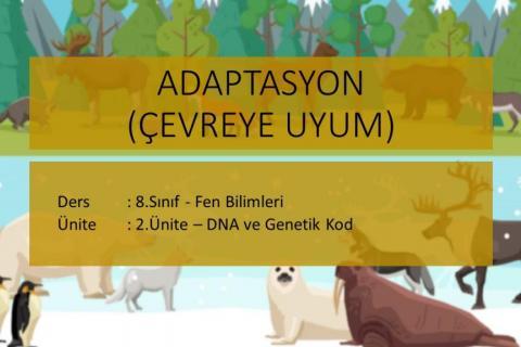 8.Sınıf Fen Bilimleri - 4.Adaptasyon (Çevreye Uyum) -  Konusu Ders Anlatımı - Konu Anlatımı - Konu Özeti (Uzaktan Eğitim) Videosu