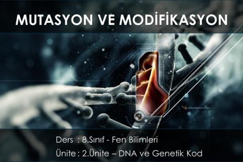 8.Sınıf Fen Bilimleri - 3.Mutasyon ve Modifikasyon -  Konusu Ders Anlatımı - Konu Anlatımı - Konu Özeti (Uzaktan Eğitim) Videosu