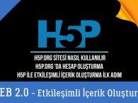 H5P.org Sitesi Nasıl Kullanılır, Hesap Oluşturma, H5P Etkileşimli İçerik Oluşturmada İlk Adım